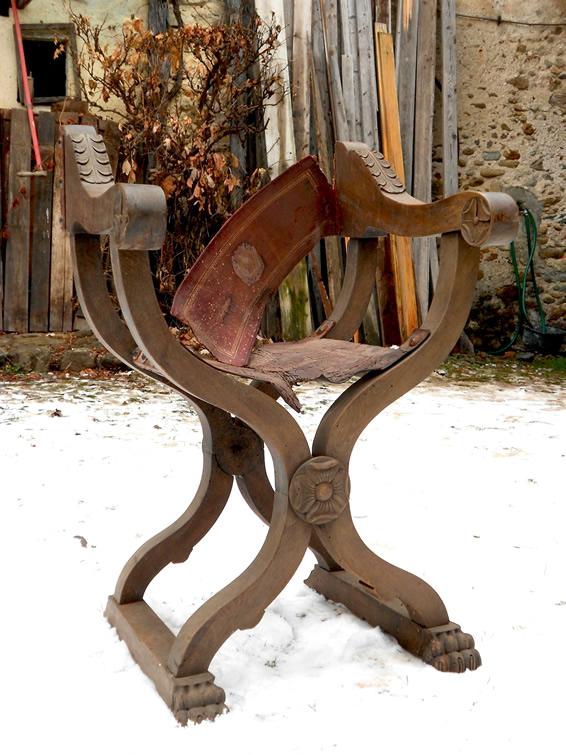 Oggetti antichi antiquariato - Savonarola sedia ...